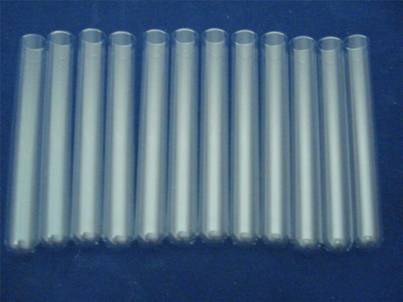 "Pyrex Glass 13 mm , 4"" X 1/2"" Test Tubes Thin Walled 1 Dozen Tube(12)"