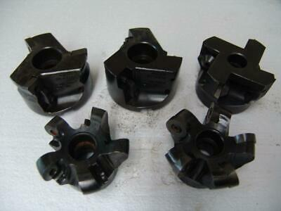 Lot Of 5 Shell Mill Fave Mill Cutters Sandvik Valenite Etc.