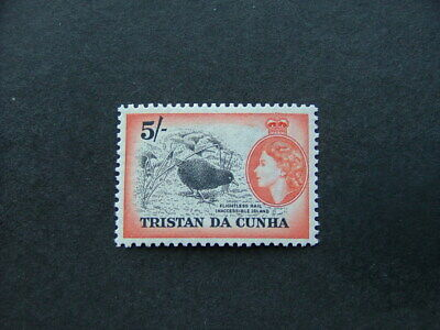 Tristan Da Cunha QEII 1954 5/- black & orange SG26 MM