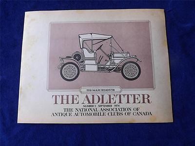 NATIONAL ASSOCIATION OF ANTIQUE AUTOMOBILE CLUBS CANADA ADLETTER NO. 1 (National Association Of Automobile Clubs Of Canada)
