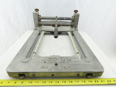 Crain Cutter Co. Model B1 Vinyl Tile Flooring Cutter Tool