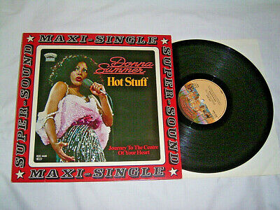 "12"" Donna Summer Hot Stuff & Journey to the Centre of your Heart - 1979 #cleaned"