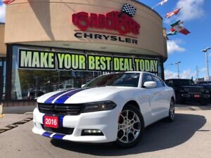 2016 Dodge Charger SXT NAVI ALL WHEEL DRIVE P-ROOF H-TED SEAT