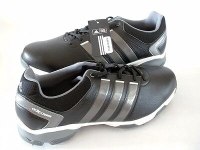 3bc2506d13d MENS ADIDAS GOLF SHOES ADIPOWER TR Q46886 BLACK WITH SILVER SIZE 10 NEW  FAST SHP