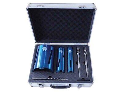Diamond Core Bit-set (Faithfull Diamond Core Drill Bit Kit Set 7-Piece & Case)