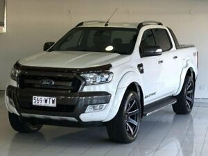 2016 Ford Ranger PX MkII Wildtrak Double Cab White 6 Speed Sports Automatic Utility Ashmore Gold Coast City Preview