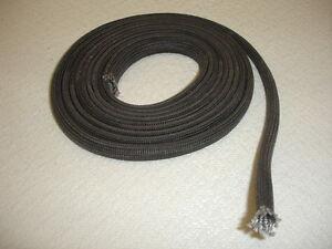 Glass fibre braided insulating sleeve 5mm inner diameter x for Table 3m long