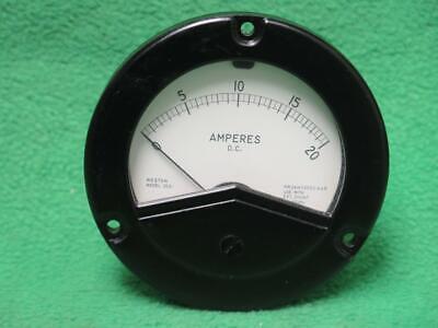 Weston 260628 2531 Mv Amp 0-20 Amperes D.c. Ammeter Instrument Panel Meter Gauge