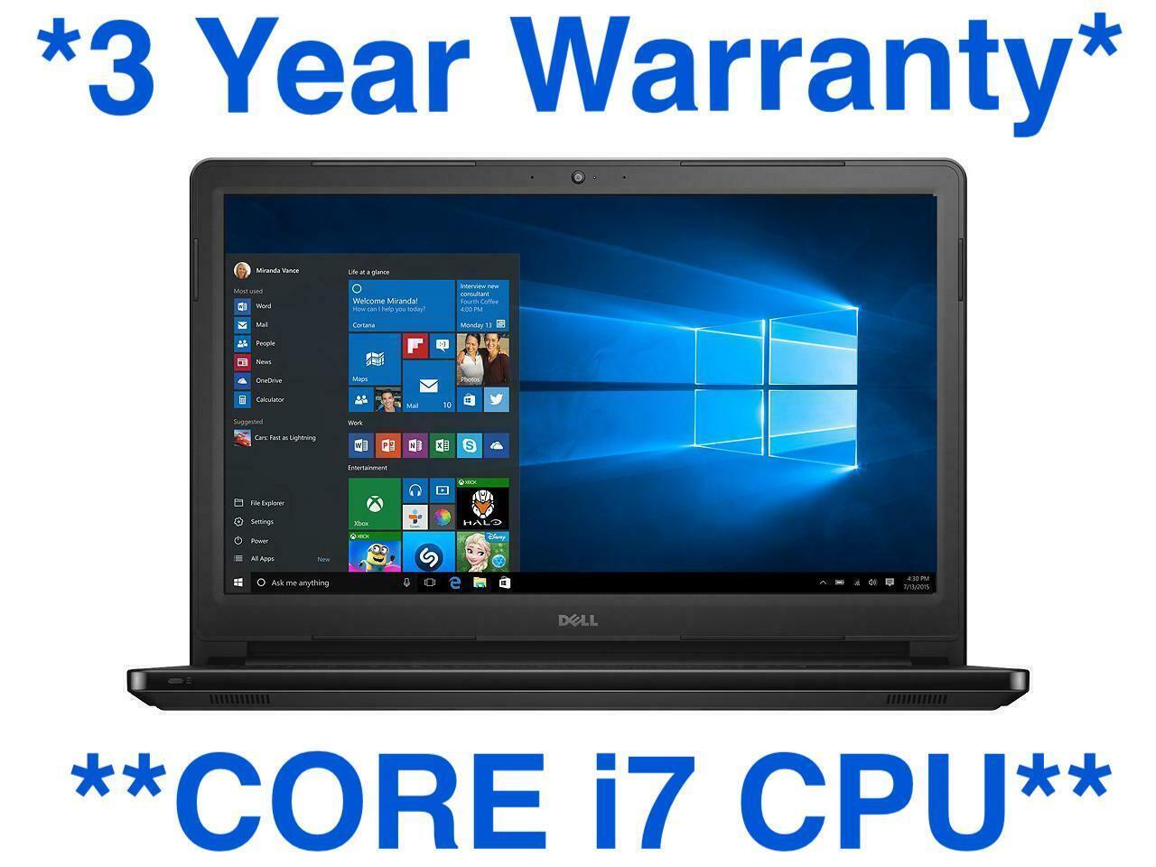 Laptop Windows - Dell Latitude E7440 | CORE I7 ULTRABOOK | Windows 10 Pro PC Laptop | 500GB SSHD!