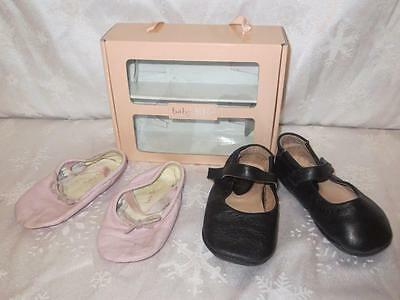 Bloch Baby Schuhe (BABY BLOCH Girls BABY LAUREL Black & PINK BALLET SLIPPERS Shoes 19 4 21 6)
