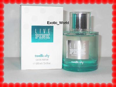 VICTORIA'S SECRET LIVE PINK VANILLA SKY EAU DE PARFUM SPRAY 3.4 OZ *RARE*
