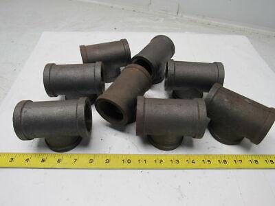 1 12 Steel Black Pipe Tee Lot Of 8