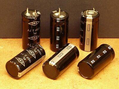 100f 2.7v Farad Supercap Ultra Capacitor X 6 Pcs 500000 Cycles High Reliability