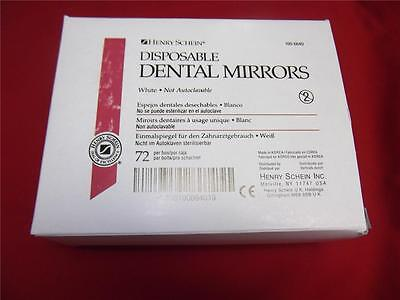 Henry Schein Disposable Dental Mirrors 72 Pcs Per Box Made In Korea 100-6640
