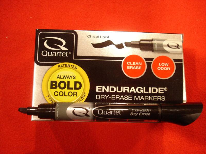 Quartet EnduraGlide Dry Erase Marker Box of 12 Black