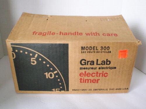 NEW VTG 60-70s GRALAB Model 300 Darkroom Electric 60-min Timer Glow n Dark w/BOX