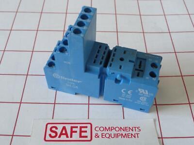 Finder 94.04 Relay Socket 10a 250v Din Rail Panel Mount 55.32 55.34 Relays G53