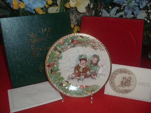 PICKARD  Sledding on Christmas Day, NEW, Mint, w/Original Box