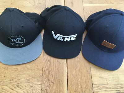 BUNDLE VANS CAPS/HATS x 3  'Off the Wall' Balck/Grey/Navy *Adjustable*