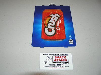 Dixie Narco 501e 276hv Soda Vending Machine Orange Crush 12oz Can Vend Label