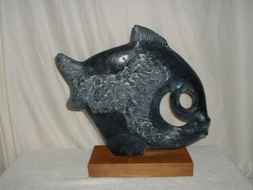 Austin Productions Klara Sever Tropical Fish Sculpture 1970 Signed