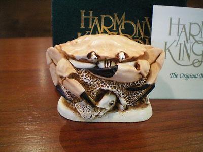 Harmony Kingdom Brean Sands Crab UK Made Marble Resin Box Figurine Chest Var.