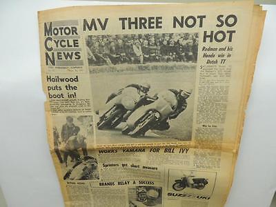 1965 Motor Cycle News Newspaper Motocross Yamaha Suzuki Triumph Honda L11604