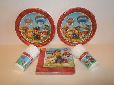 Paw Patrol Party Tableware - Cups, Plates and Napkins - 16 of each - Paw Patrol Plates And Cups