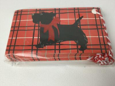 Vera Bradley Scottie Dog Holiday Gift Tag Card Set of 8 NIP - Holiday Gift Tag Set
