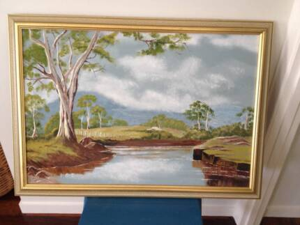 Landscape oil on canvas by Rosemary Hill