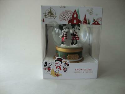 Disney Christmas 2019 Mickey Mouse & Minnie Mouse Snow Globe Snowglobe - NEW