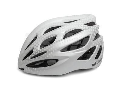 Casco Bici Bicicleta MTB Ciclismo Plata Blanco Adulto Talla M 55-58CM