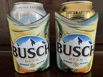 Busch Beer Largemouth BASS Fish Fishing Hunting Can Cooler Koozie Coolie Light