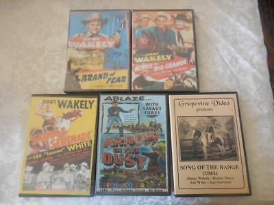 5 DVDs All Jimmy Wakely B-Westerns Serials Across rio Grande +++ DVD-R  LIKE NEW, used for sale  Ojai