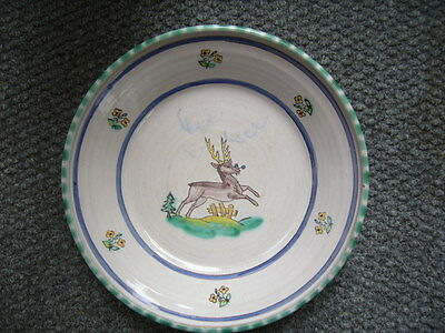 Wandteller Schale Majolika Gmundner Keramik Fayence Hirsch