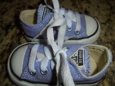 toddler girls purple Converse All Star shoes size 3 exclnt condtn low fast shpng