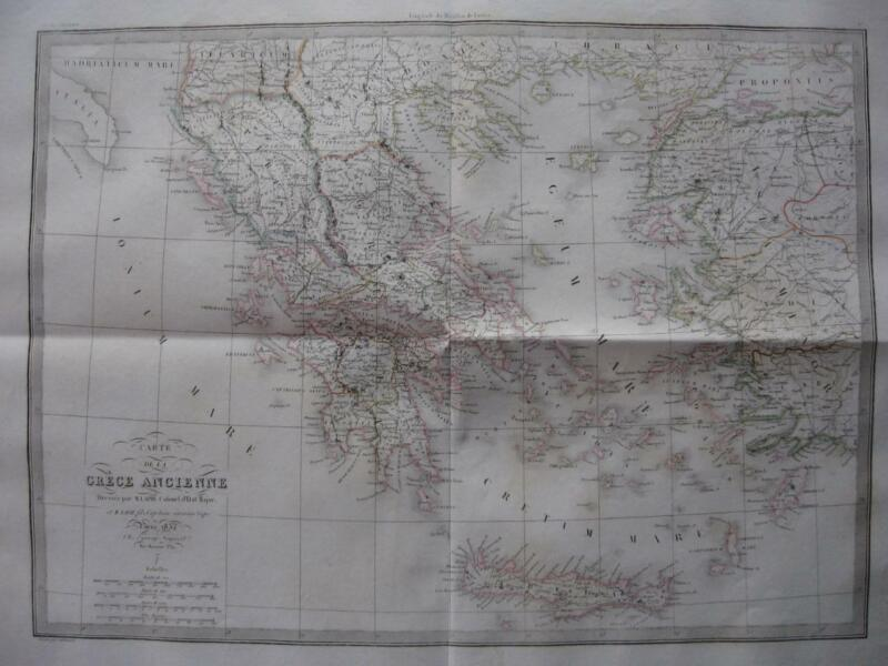 1832 - LAPIE - Large map ANCIENT GREECE
