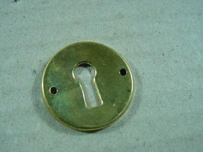 60er Jahre Messing massiv Schlüssellochblende,Möbelbeschlag,Schlüsselloch 50