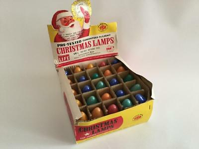 Vintage Outdoor Colored Christmas Light Bulbs C9 1/4 Box of 24 Tested & Working
