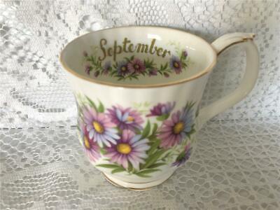 Royal Albert Flower of the Month Series SEPTEMBER Mug MICHAELMAS DAISY