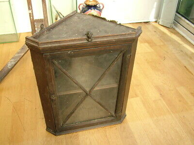 Antique Corner Hanging Cabinet, Rev Edmund Nelson, LORD NELSON