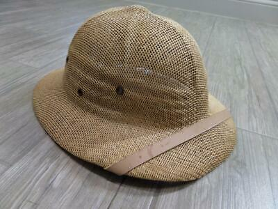 vintage SAFARI jungle hat PITH tropical XL abercrombie banana republic  HELMET