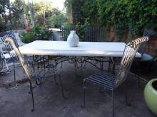 Tuscan GRC outdoor table and wrought iron chairs Upper Mount Gravatt Brisbane South East Preview