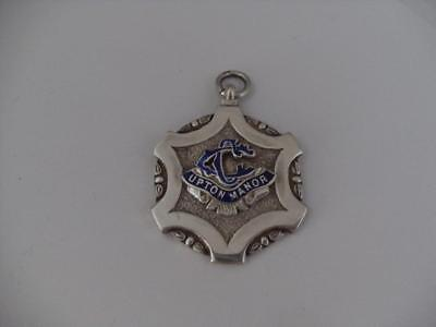 Solid Silver Albert Chain Fob Medal London 1954 Upton Manor Cycling Club