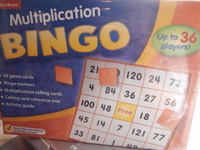 Multiplication Bingo Early Math Skills (Math Multiplication Bingo)