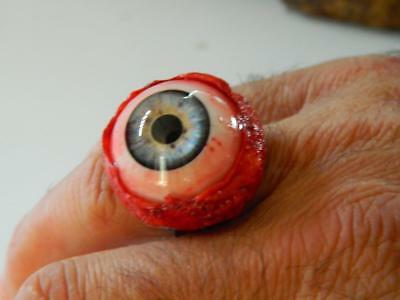 Eyeball Costumes For Halloween (Halloween Horror Prop -Bloody EYEBALL RING for costume or cosplay!)