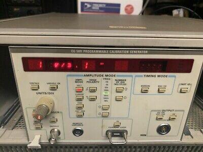 Tektronix Cg5011 Calibrator Programmable Calibration Generator Read