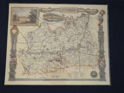 Reproduction Antique Map of Surrey16 x 20 inches.