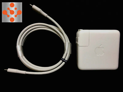 "100% Genuine APPLE MacBook Pro 13"" 61W USB-C Power Adapter Charger + 2M  Cable"