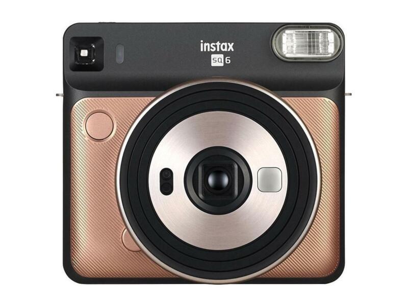 Fujifilm Instax Square SQ6 Instant Film Camera with Retractable Lens, Blush Gold